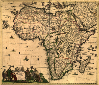 African antique historical maps royalty free clip art africa antique map 1688 royalty free clip art gumiabroncs Image collections
