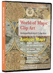 antique historical maps clip art cd rom