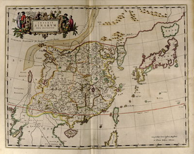 China 1655 antique historical map, vintage, royalty free, clip art