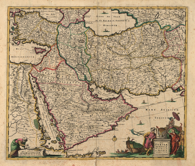 Middle East Antique Historical Maps Royalty Free Clip Art