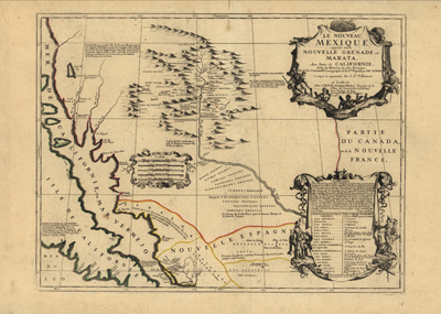 Mexico 1742, antique vintage map, historical, atlases