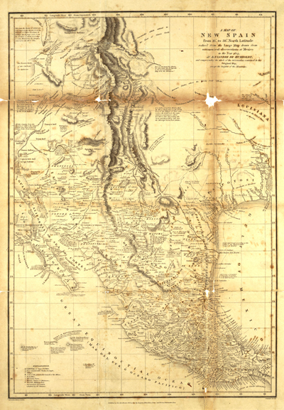 Mexico 1804, vintage map, old spain, antique, historical, royalty free, central ameria