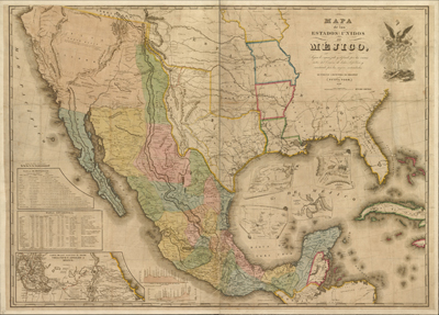 Mexico, 1847, antique map, royalty free, old prints, cartography, vintage