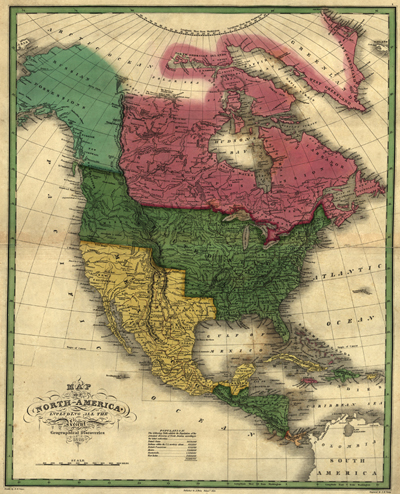 North America 1826, United States, Antique Vintage map, Royalty Free, Clip Art