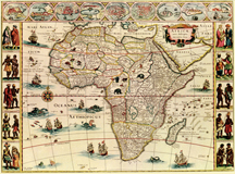 Africa antique map 1660