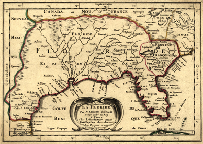 Southern United States 1657 Antique Historical Map Royalty Free Usa Us America