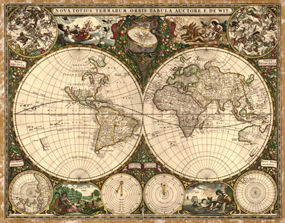 World projections antique historical royalty free clip art maps antique vintage historical map 1660 royalty free rare map clip art gumiabroncs Images